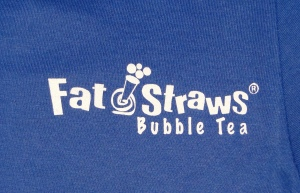 Bubble Tea company logo illustrates Dallas screen printing techniques