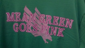 UNT Tshirts promote breast cancer cure