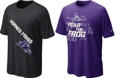 new TCU logo t-shirts not being sold