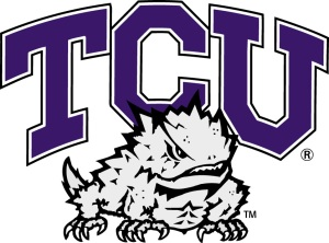 Horned Frog adorned old TCU logo